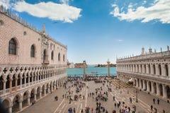 Place de l'Italie du nord, Venise, St Mark Images libres de droits