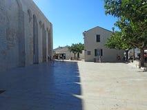 Place de l'Église, Saintes-Maries-de-la-Mer, France Stock Photo