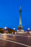 Place de la Bastille. With the July Column in the center, Monday July 11, 2011 Stock Images