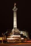 Place DE La Bastille bij nacht Stock Foto's