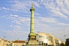 Place de la Bastille y y Bastille de la ópera Foto de archivo