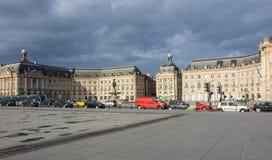 place de la Bourse在红葡萄酒 免版税库存图片