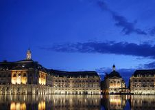 Place de la bourse in Bordeaux in France Royalty Free Stock Photos