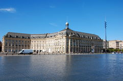 Place de la Bourse  in Bordeaux Royalty Free Stock Images