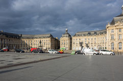 Place de la Bourse in Bordeaux Royalty Free Stock Photography
