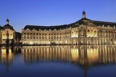 Place de la Bourse, Bordeaux, Frankreich Lizenzfreies Stockbild