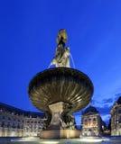 Place de la bourse in Bordeaux by night stock photos