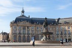 Place de la Bourse,  Bordeauxe Stock Images