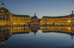 Place de la Bourse, Bourdeax Stock Photography