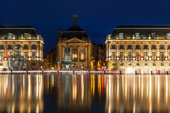 Place de la Bourse in the city of Bordeaux, France Stock Photo