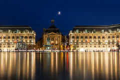 Place de la Bourse in the city of Bordeaux, France Royalty Free Stock Photo