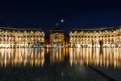 Place de la Bourse in the city of Bordeaux, France Royalty Free Stock Photos