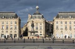 Place de la Bourse en Bordeaux Photos stock