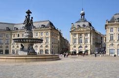 Place de la Bourse en Bordeaux, France Image libre de droits