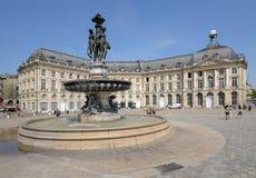 Place de la Bourse en Bordeaux, France Photographie stock libre de droits
