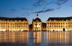 Place de la Bourse en Burdeos Fotos de archivo libres de regalías