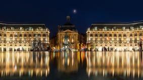 Place de la Bourse en la ciudad de Burdeos, Francia Imagen de archivo libre de regalías