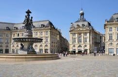 Place de la Bourse im Bordeaux, Frankreich Lizenzfreies Stockbild