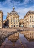 Place de la Bourse with reflection,  Bordeauxe Royalty Free Stock Photo