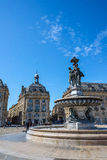 Place de la Bourse square in Bordeaux, France Royalty Free Stock Images
