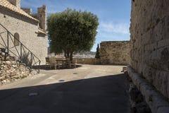 Place de la Castre在戛纳,法国 免版税库存照片