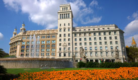Place de la Catalogne à Barcelone, Espagne Image stock