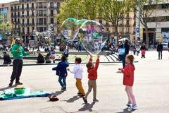 Place de la Catalogne l'espagne Image stock