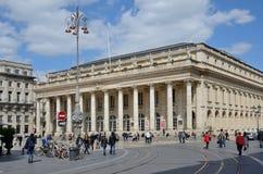 Place de la Comedie au Bordeaux français de ville Images stock