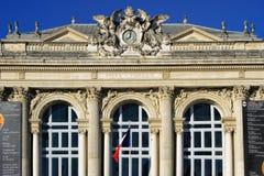 Place de la Comedie - quadrato del teatro di Montpellier Fotografia Stock