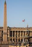 Place DE La Concorde, één van het meest vising oriëntatiepunt in Parijs aan het eind van Champs Elysees, vierkante, Franse revolu Stock Foto's