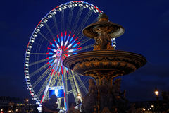 Place de la Concorde at the blue hour Royalty Free Stock Images