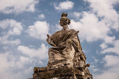 Place de la Concorde on Cloudy Day in Paris Royalty Free Stock Photos