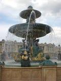 Place de la concorde. Detail of the fountain of place de la concorde Royalty Free Stock Images