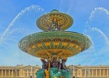 place de la concorde en París Fotografía de archivo