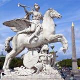 Place de la Concorde en París Imagen de archivo libre de regalías