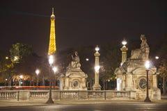 Place de la Concorde entro la notte Immagine Stock Libera da Diritti