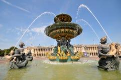Place de la Concorde fountain Royalty Free Stock Image