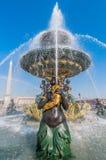 Place de la concorde fountain paris city France Royalty Free Stock Images