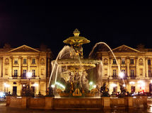 Place de la Concorde Fountain in Paris Royalty Free Stock Images