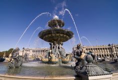 Place de la Concorde Fountains Royalty Free Stock Images