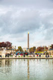 Place de la Concorde with Luxor obelisk Royalty Free Stock Photos