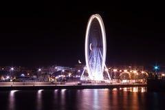 Place de la Concorde nachts Lizenzfreies Stockbild