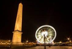 Place de la Concorde at night Royalty Free Stock Photo