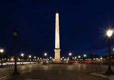 Place de la Concorde and  Obelisk of Luxor, Paris Royalty Free Stock Photo