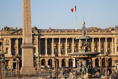 Place de la Concorde, one of the most vising landmark in Paris at the end of the Champs Elysees, square, french revolution, king l Stock Photography