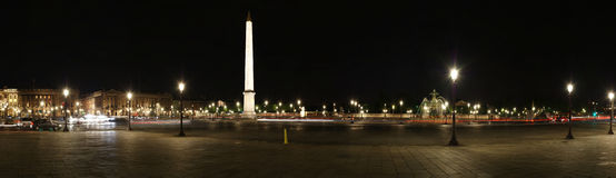 Place de la Concorde (panorama), Paris, France Stock Photography