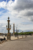 Place de la Concorde in Paris Royalty Free Stock Image