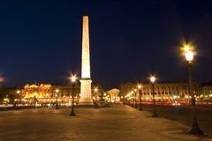 Place de la Concorde, Paris. Place de la Concorde in Paris Stock Photo