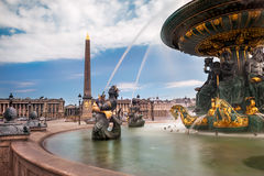 Place de la Concorde in Paris Stock Image