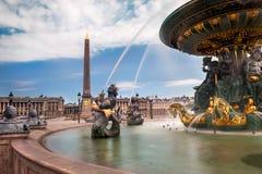 Place de la Concorde in Paris. Paris, fountain at Concorde Square ( Place de la Concorde Stock Image